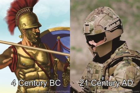 Combat Helmet, Back then and Now