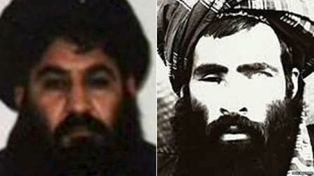 Akhtar Mansoor (kiri) mengklaim dirinya ditunjuk menggantikan Mullah Omar (kanan).